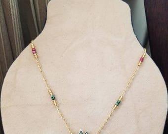 Gold necklace Vintage pendant pendant necklace gold chain everyday necklace vintage style