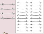 BOW BANNERS | Planner Stickers | Pink | Bows | Deco | Bujo | Erin Condren | Tn | S178