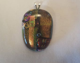 dichroic glass pendent
