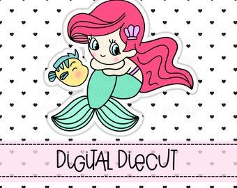 Mermaid Planner Diecut   Planner Diecut   Mermaid Diecut   Erin Condren