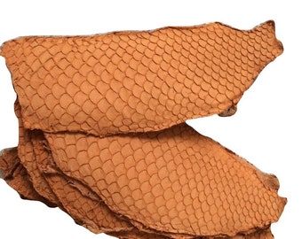 Tilapia Fish Leather orange fish leather genuine fish leather exotic leather hides cuir poisson pescado piel leder fish leather for shoes