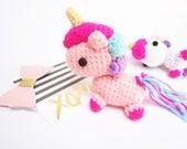 Amigurumi unicorn / Unicorn keychain / Unicorn plush / kawaii amigurumi / amigurumi keychain / crochet unicorn / amigurumi pony