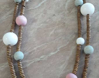 Beaded Necklace- Wooden beads
