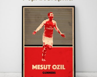 Mesut Ozil - Mesut Ozil Poster - Arsenal - Arsenal Poster - Soccer Poster - Soccer Art - Football Art