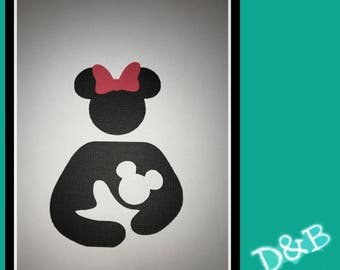 20 3-inch Minnie Mouse Breastfeeding Cutout/Scrapbooking, Decorating