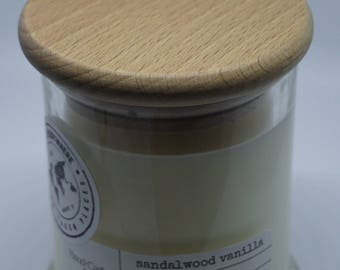 INDONESIA - Sandalwood Vanilla: Hand-Crafted Soy Candle