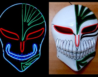Halloween Led El wire Tron Costume Mask for Christmas Party and Festival