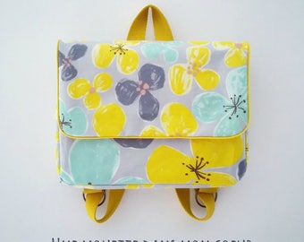 Kindergarten school bag / yellow floral nursery