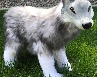 Grey Wolf Art Doll