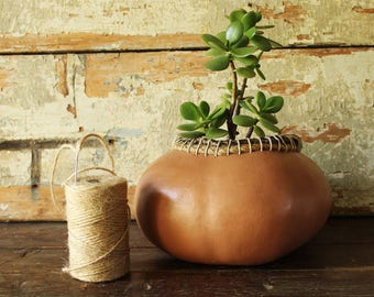 Pumpkin vase | Ornamental vase | Furniture gourd | Gourd art ideas | Original flower pot