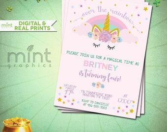 Unicorn Invite, Unicorn Invitation, Magical Unicorn, Unicorn Birthday, Rainbow Unicorn, Unicorn Party Invite, Unicorn Party