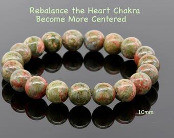 Unakite A Beaded Bracelet, Calming Energy, Balance Emotions, Harmonious Partnerships, Get Centered, Patience, Peaceful Vibes Energy Bracelet