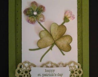 Lucky Clover Handmade Saint Patrick's Day Card