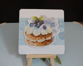 Cupcake themed card | Mothers day card | Birthday card | Valentine's card | Friend