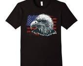 American Flag T Shirt Eag...