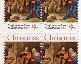 Christmas - Giorgione - Adoration of the Shepherd - 12 Stamps - 1971 - Mint - Unused - Scott 1444
