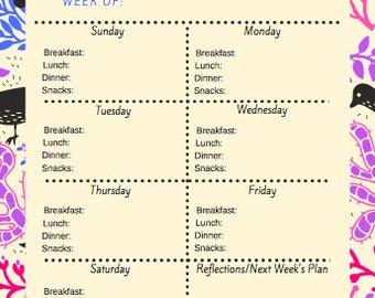 Weekly Meal Planner - 2 - Digital Download
