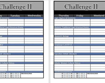 Challenge II Planner 2017-2018 - Classical Conversations