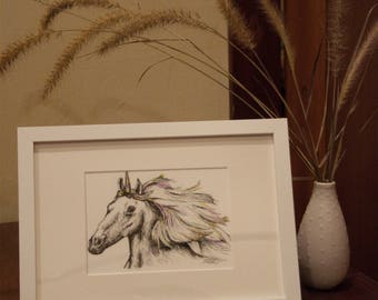 Unicorn - Ink Illustration - Children's Wall Art - Nursery Decor - Giclee Print