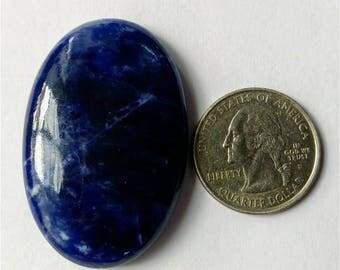 46.35x30.75 mm,Ovel Shape Sodalite,Attractive Sodalite /wire wrap stone/Super Shiny/Pendant Cabochon/Semi PreciousGemstone,silver jewelry