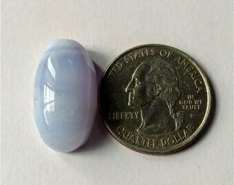 23.20 x 12.90 mm, Ovel  Shape Blue Lace Agate Cabochon/Attractive Blue Lace Agate/wire wrap stone//Pendant Cabochon/Semi Precious Gemstone