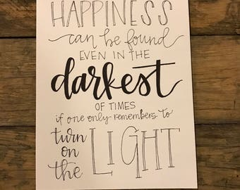 Dumbledore Quote Print