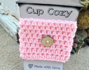 Cup Cozy // Cup warmer // Crochet Cup Cozy // Crochet Cozy // Made 2 Order up to 3 days before ship// Ship fast and quick // Custom Cozy
