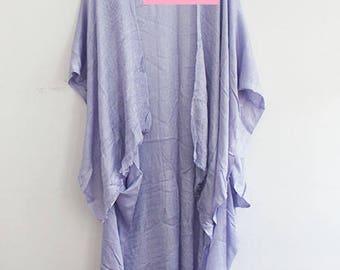 Blue Kimono with Low High Design