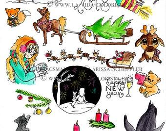 Stickerset Christmas for your Bullet journal/Carl/Ball Journal/Filofax/Sticker/Sticker