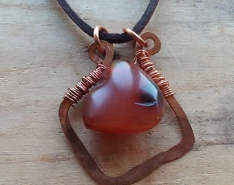 Antique Agate Trade Bead Gemstone Necklace