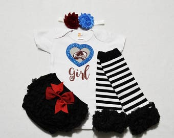 colorado avalanche baby girl outfit - baby girls colorado avalanche outfit -  baby girl colorado avalanche hockey - avalanche baby girl