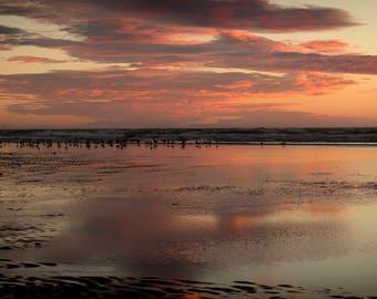 French Sunset Seascape Photo Print