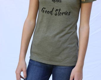 "Graphic Tee ""Bad Choices Make Good Stories""/ Short sleeve fashion graphic tee for women/Funny Graphic Tee for Women/gift for her"
