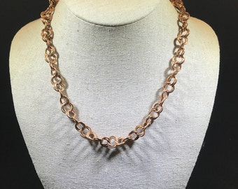 Spiral Copper Chain Maille Necklace