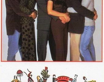 Friends television series,  postcard 1997.