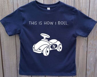 This is how I roll, that's how I roll, funny onesie, funny toddler shirt, funny kids shirt, toddler boy shirt, toddler gift