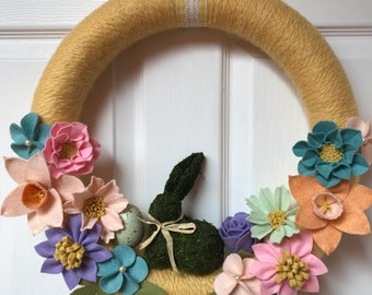 Spring/Easter Yarn Wrapped Wreath