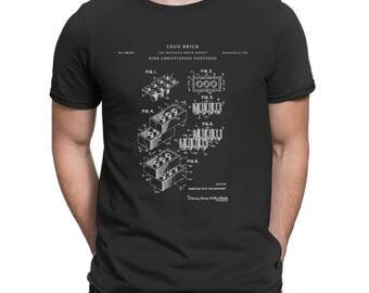 Lego T Shirt, Lego Brick Patent T-Shirt, Lego Block Shirt, Lego Gift For Gamer, Lego Patent Shirt Gift For Legos Fan, Legos Toy Gift P93