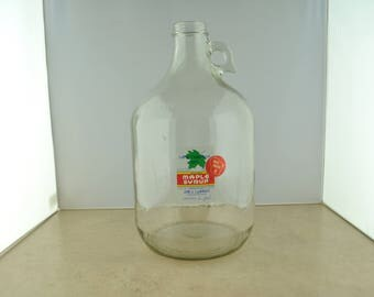 One Gallon Wisconsin Maple Syrup Glass Jar