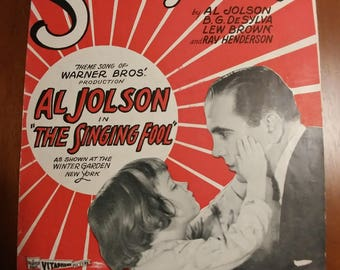 Sheet Music Al Jolson Collection of two