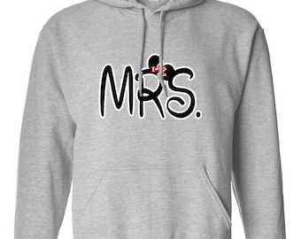 Minnie Mouse Mrs. Minnie Ears Design Clothing Adult Unisex Hoodie Hooded Sweatshirt Best Seller Designed Hoodies for Women