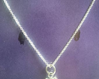 Necklace chain in Sterling Silver with pendant in form of girl