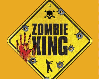 Zombie Tshirt - ZOMBIE CROSSING - Funny Traffic Warning Sign Zombie Apocalypse T Shirt - Perfect for All Zombie-related Gifts!