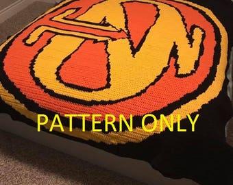PATTERN ONLY Crochet Hanson Graphgan Blanket