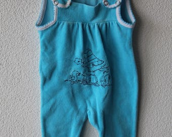 Plush divider, jumpsuit for the very small, girl with duck