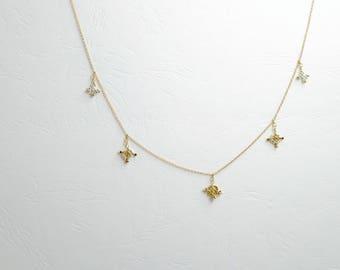 Czech beads embroidered Choker pendants