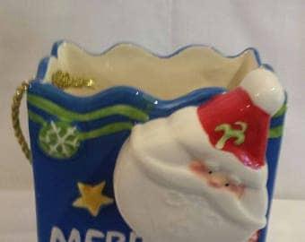 Ceramic Christmas Gift Bag