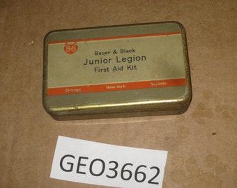 Bauer & Black Junior Legion First Aid Kit Tin     [geo3662bt]