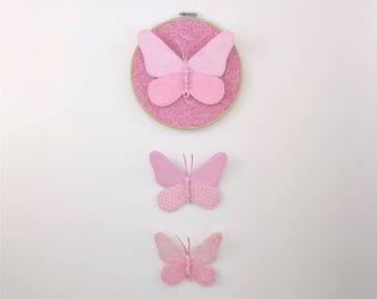 Butterfly Cluster Wall Hanging - Pink