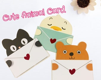 Cute Animal Character Cards for any occasion
